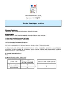 AGRI-EQ-104  Écrans thermiques latéraux