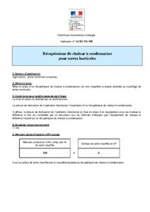 AGRI-TH-109  Récupérateur de chaleur à condensation pour serres horticoles