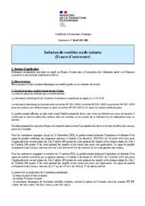 BAR-EN-106  Isolation de combles ou de toitures (France d'outre-mer)