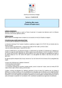 BAR-EN-107  Isolation des murs (France d'outre-mer)