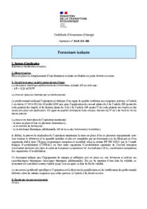 BAR-EN-108  Fermeture isolante