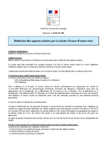 BAR-EN-109  Réduction des apports solaires par la toiture (France d'outre-mer)