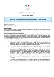 BAR-SE-105  Contrat de Performance Energétique Services (CPE Services)