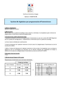 BAR-TH-118  Système de régulation par programmation d'intermittence