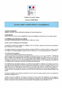 BAR-TH-143  Système solaire combiné (France Métropolitaine)