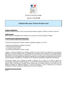 BAT-EN-108  Isolation des murs (France d'outre-mer)