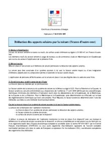 BAT-EN-109  Réduction des apports solaires par la toiture (France d'outre-mer)