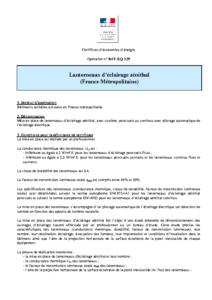 BAT-EQ-129  Lanterneaux d'éclairage zénithal (France Métropolitaine)