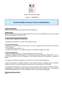 BAT-EQ-133  Systèmes hydro-économes (France métropolitaine)