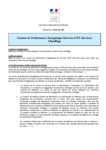 BAT-SE-104  Contrat de Performance Energétique Services (CPE Services) Chauffage