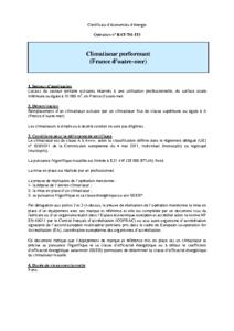 BAT-TH-115  Climatiseur performant (France d'outre-mer)