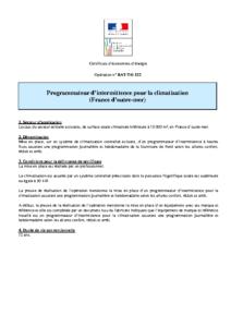 BAT-TH-122  Programmateur d'intermittence pour la climatisation (France d'outre-mer)