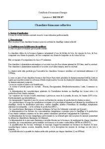 BAT-TH-157  Chaudière biomasse collective