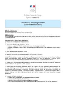 IND-BA-113  Lanterneaux d'éclairage zénithal (France Métropolitaine)