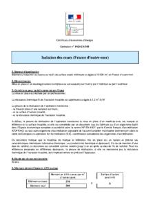 IND-EN-101  Isolation des murs (France d'outre-mer)