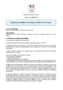 IND-EN-102  Isolation de combles ou de toitures (France d'outre-mer)