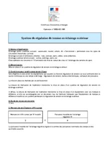 RES-EC-101  Système de régulation de tension en éclairage extérieur