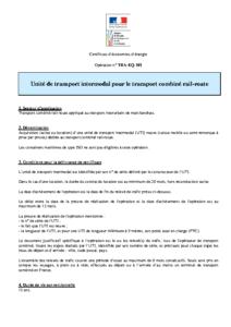 TRA-EQ-101  Unité de transport intermodal pour le transport combiné rail-route