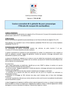 TRA-SE-108  Gestion externalisée de la globalité du poste pneumatique (Véhicules de transport de marchandises)