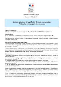 TRA-SE-111  Gestion optimisée de la globalité du poste pneumatique (Véhicules de transport de personnes)