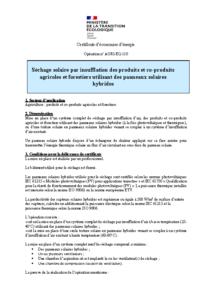 AGRI-EQ-110  Séchage solaire par insufflation