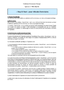 TRA-EQ-125  Stop & Start pour engins ferroviaires